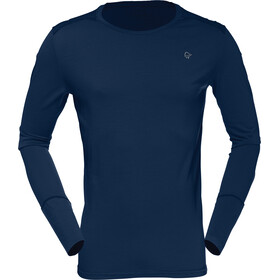 Norrøna Wool Round Neck Shirt Men Indigo Night/Scarlet Ibis